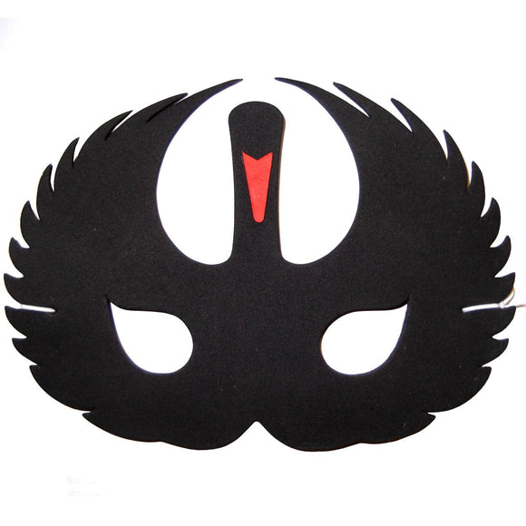 Children's Black Swan Face Mask for Fancy Dress