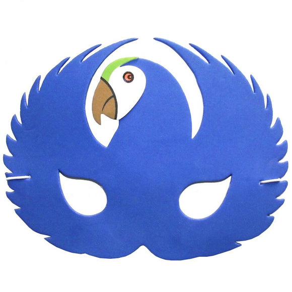 Children's Blue Parrot Face Mask for Fancy Dress