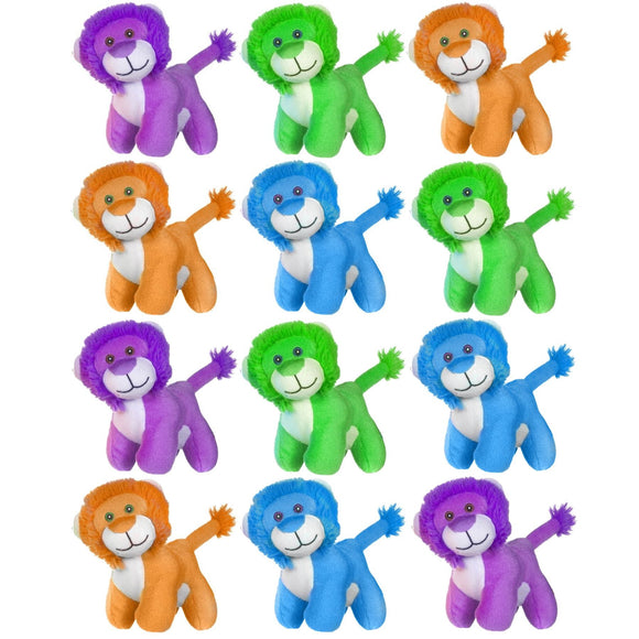 12 Lion Cuddly Plush Toy Fundraising, Party Bag and School Fair Pack