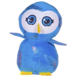 13cm Brightly Colourd Owl Cuddly Plush Soft Toy Party Bag Filler Favor Gift