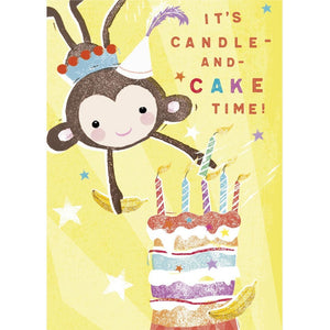 It's candle and cake time birthday card