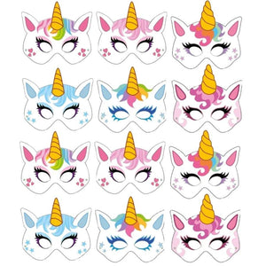 Unicorn Card Children's Masks Party Masks For Party Bags