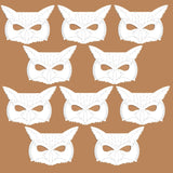 96 owl plain card colour your own masks