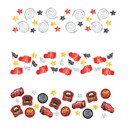 Pack of Disney Cars Formula Racer Confetti weighs 34g