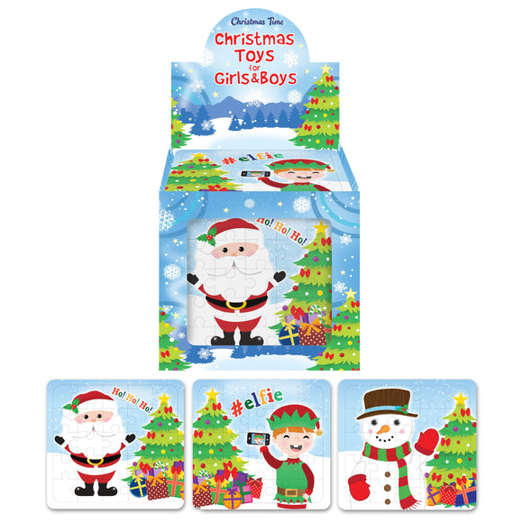 Box of Christmas Jigsaw Puzzles Bulk Discount Stocking Fillers