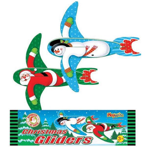 Set of 2 Christmas Poly Glider Toys Stocking Fillers and Classroom Treats and Gifts