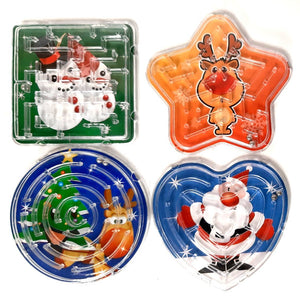 Set of 4 Christmas Maze Games perfect stocking filler and classroom treats or gifts
