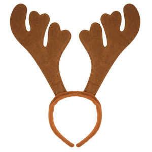 Christmas reindeer Antlers in Brown available in various quantities for groups, parties, schools, fundraising and family dinners