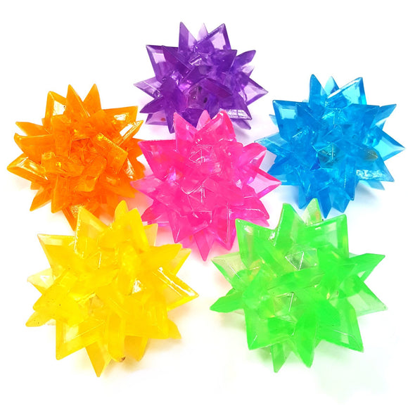 Flashing Crystal Bounce Ball Sensory Pocket Money Toy