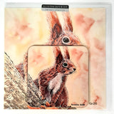 Cyril Squirrel Greetings Card with Drinks Coaster Gift Idea