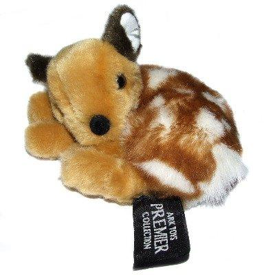 13cm Laying Fallow Deer Cuddly Soft Toy