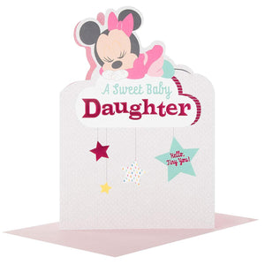 Minnie Mouse Sweet Baby Daughter Congratulations Card