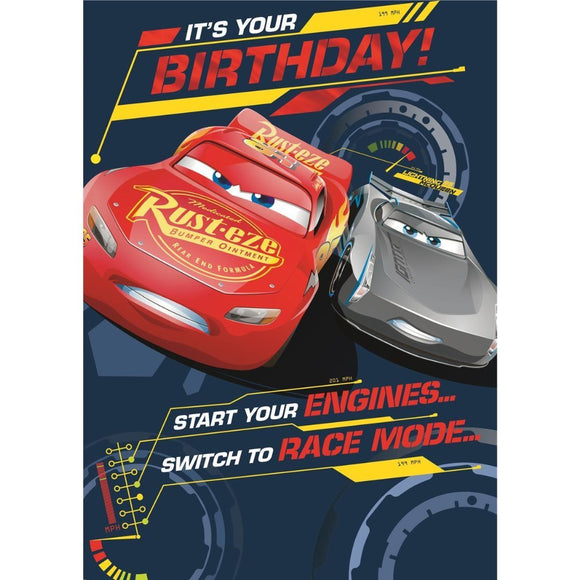 Hallmark Disney Cars Birthday Card