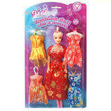 Fashion Doll with 4 Extra Dress's Pocket Money Toy