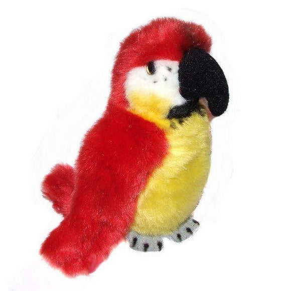 13cm Red Parrot Cuddly Soft Toy
