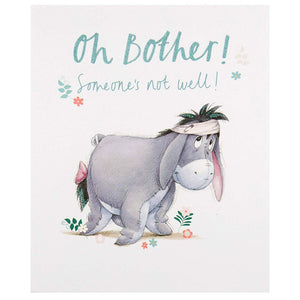 Disney Eeyore Get Well Soon Hallmark Greetings Card