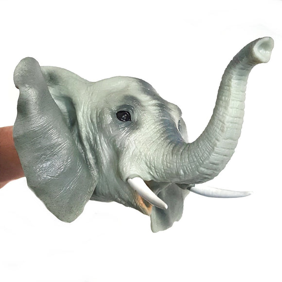 Elephant Rubber Hand Puppet Fits Adults and Children