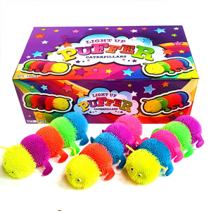 Box of Flashing Puffer Caterpillar Toys Fundraising Idea