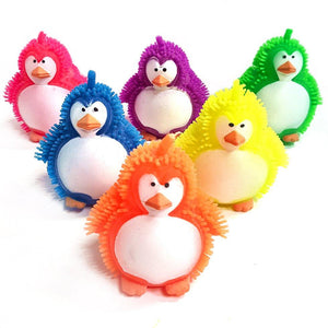 Flashing Puffer Penguin Squeeze Toy