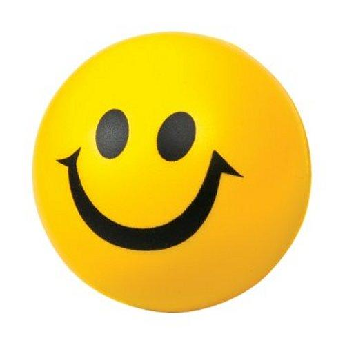 Foam Yellow Smiley Face Ball Sensory Toy
