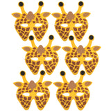 6 Giraffe Children's foam masks ideal for schools, theaters, parties and groups