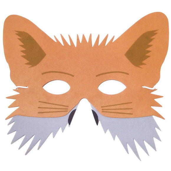 Kids Fox Face Mask For Storytelling, School, Party Bags and Fancy Dress