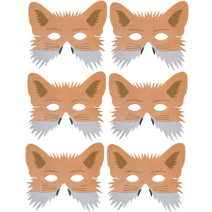 Children's Fox masks for fancy dress, theatre, school plays and party bags