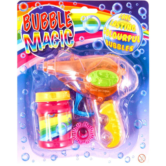 Friction Bubble Gun Toy with Bubble Liquid