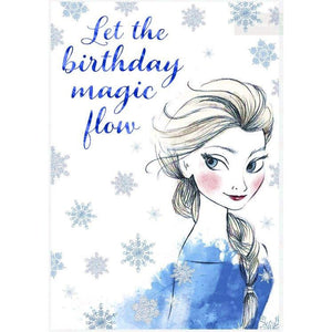 Disney Hallmark Frozen Birthday Greetings Card