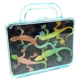 Glow In the Dark Lizard toys in carry case