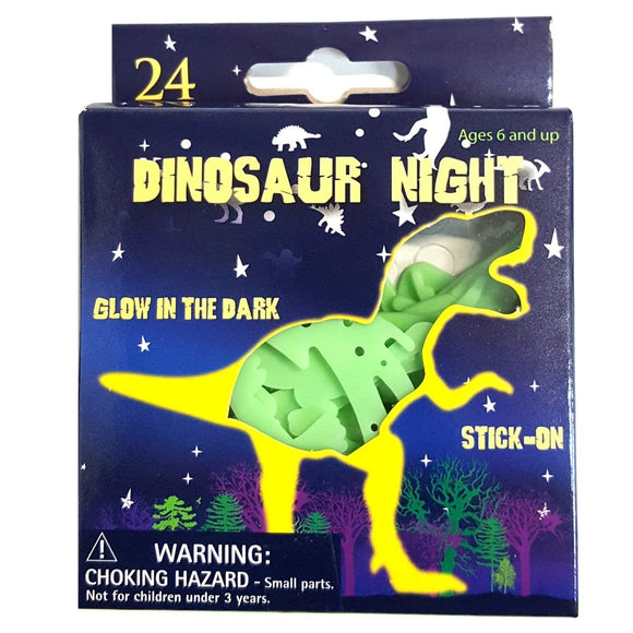 Glow in the Dark Stick on Dinosaurs