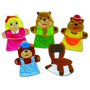 Goldilocks and the Three Bears Story Time Hand Puppet Set