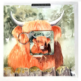 Hamish Highland Cow Greetings Card with Gift