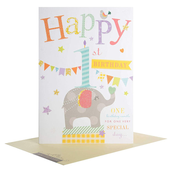 Happy 1st Birthday Hallmark Greetings Card