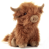 Large Highland Cow Cuddly Soft Plush Toy Brown