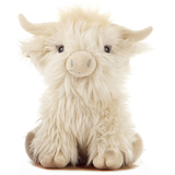 Large Highland Cow Cuddly Soft Plush Toy Cream
