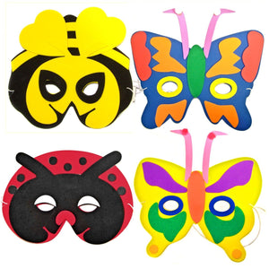 Children's Insect Face Mask for Fancy Dress including a Bee, Ladybird and Butterflies