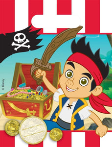 Pack of 6 Jake and The Pirates Neverland Party Favour Loot Bags