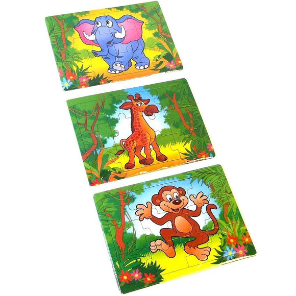 Jungle Zoo Jigsaw Puzzle Party Bag Filler Favor