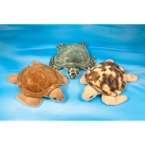 13cm Turtle Cuddly Soft Toy 3 colour choices in checkout
