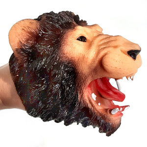 Lion Adult and Child Rubber Hand Puppet