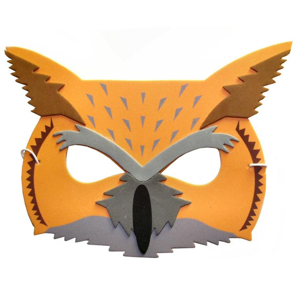 Children's Owl Face Mask for Fancy Dress