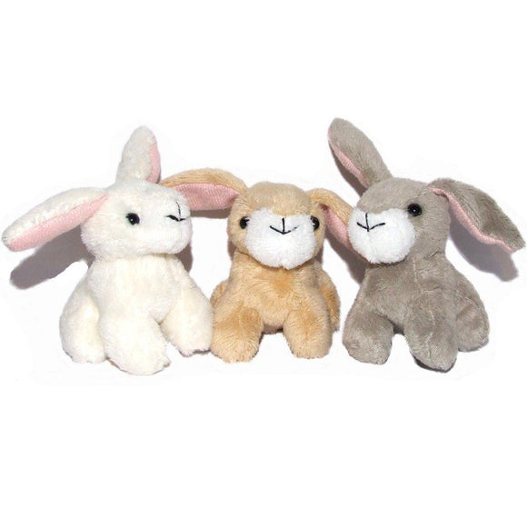 9cm Easter Bunny Cuddly Soft Toy available in 3 colours