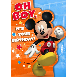 Disney Oh Boy It's Your Birthday Mickey Mouse Greetings Card