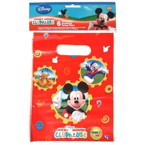 A Pack of 6 Mickey Mouse, Mickeys Club House Party Favor Bags