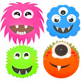 4 Assorted Children's Monster Foam Face Masks Fundraising Pack