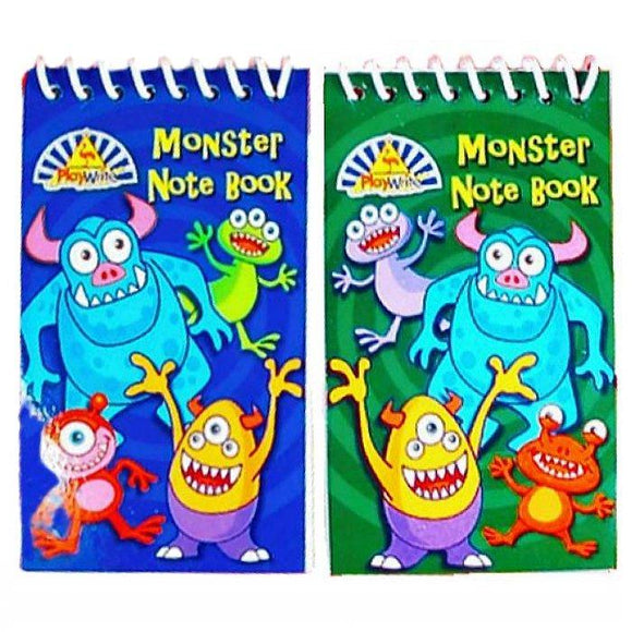 Small Monster Notebooks for Party Bag Fillers