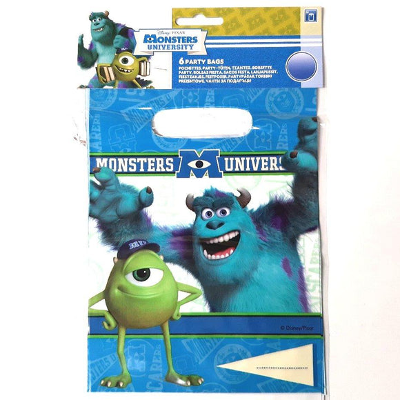 A Pack of 6 Disney Monsters University Party Favor Bags