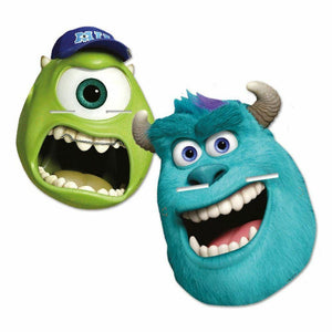 Pack of 4 Monsters University Card Party Masks