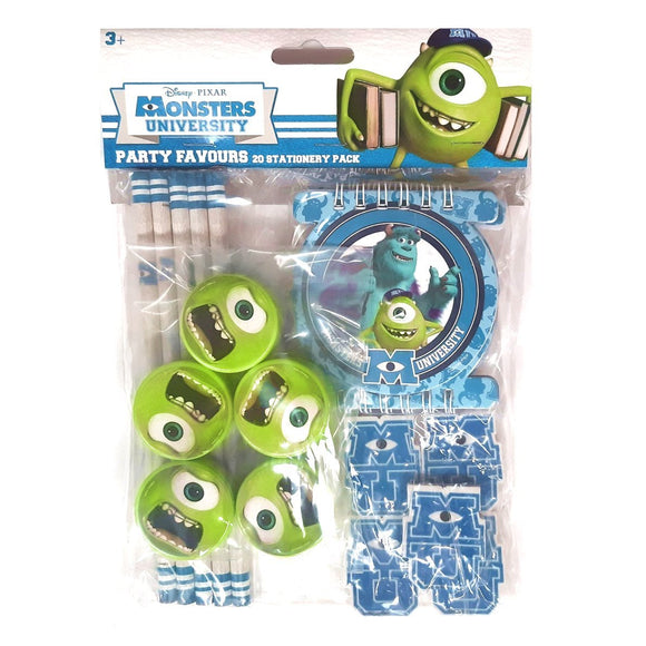 Monsters University Stationary Party Bag Filler Favor Pack